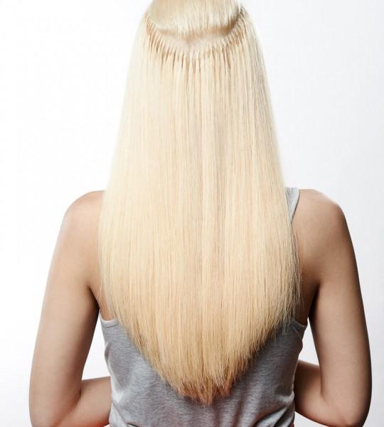 Haarverlängerung Blick unter die Haare